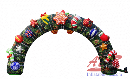 18-foot Christmas inflatable arch 01