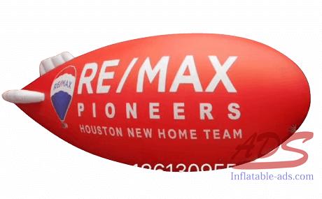 Helium airship aerial advertisement 03